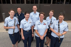 CCM alumni in the USAFB. Photo provided by the U.S. Air Force Band.