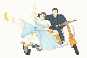 'Cendrillon' sketch by student costume designer, Maria Lenn.
