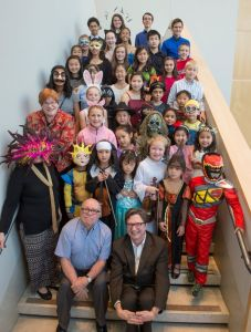 CCM Prep students dressed in Halloween costumes for last year's Gino DiMario Scholarship Recital.