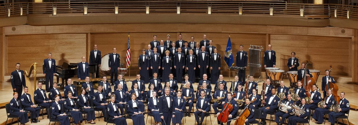 The U.S. Air Force Band and Singing Sergeants. Photo by The United States Air Force Concert Band.