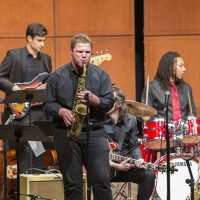 People enjoyed performances during the University of Cincinnati CCM Moveable Feast. UC/Joseph Fuqua II