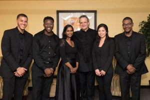 The inaugural class of Diversity Fellows with CSO music director Louis Langrée.