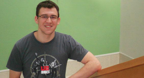 CCM alumnus Nick Lipari during his time as a student at CCM.