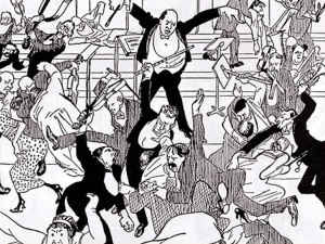 Schoenberg caricature originally published in 'Die Zeit' on April 6, 1913.