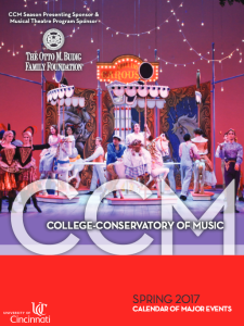 Download CCM's Spring 2017 Calendar of Events now.