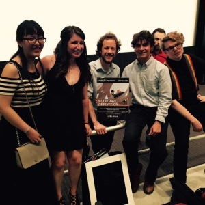 From left to right: 'Standard Definition' filmmakers Yiyang Xu, Katie Laird, Tim Young, Elliot Feltner and Fritz Pape.