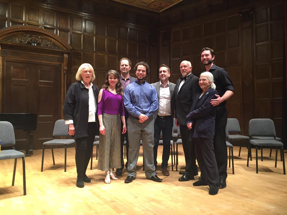 Paulina Villarreal with fellow 2017 Lotte Lenya Competition prize winners and judges. Photo provided by the Kurt Weill Foundation.