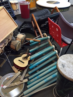 Damaged instruments after the flash flood. Photo provided by Melodic Connections.