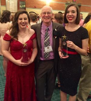 Randall Kent and his students at the Cappie Awards.
