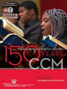 Pick up a copy of CCM's Fall 2017 Calendar of Major Events or view the booklet online at https://issuu.com/ccmpr/docs/ccmfall2017calendarbooklet.