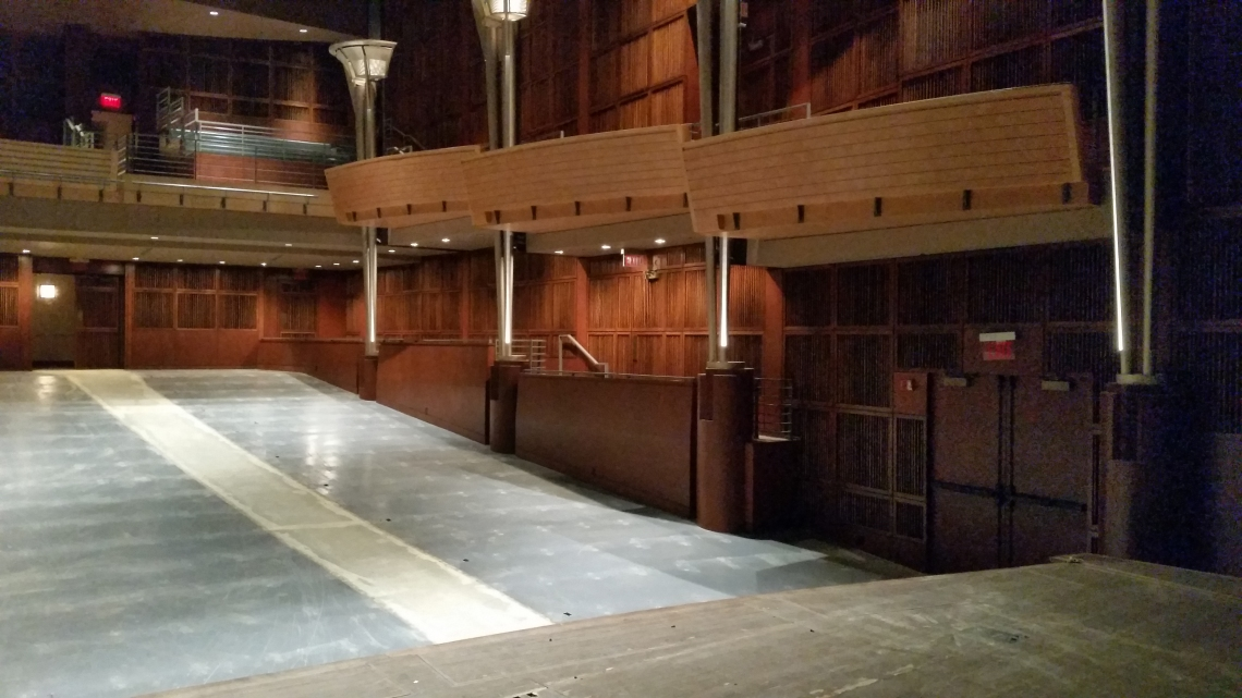 Corbett Auditorium will receive new seats as part of the renovations.