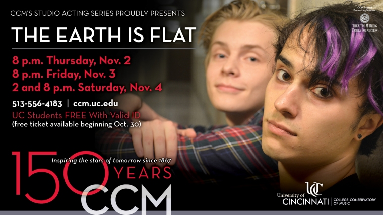 This work by alumnus Todd Almond is a coming-of-age tale set at UC. Admission is free but reservations are required; tickets become available at noon on Monday, Oct. 30.