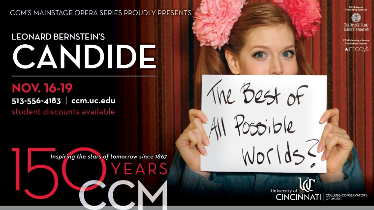 "CCM presents ""Candide"" Nov. 16-19 in Patricia Corbett Theater."