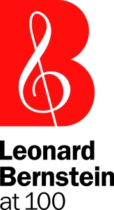 Leonard Bernstein at 100 logo.