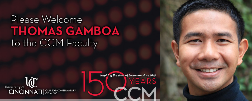 A graphic announcing the appointment of Thomas Gamboa as CCM's new Assistant Director of Wind Studies.