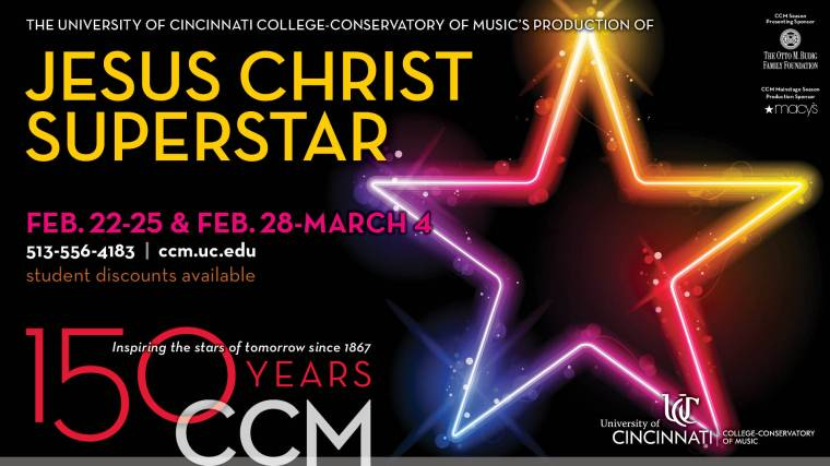 CCM's musical theatre starts of tomorrow present the 1970s rock opera on Thursday, Feb. 22 through Sunday, March 4, 2018.