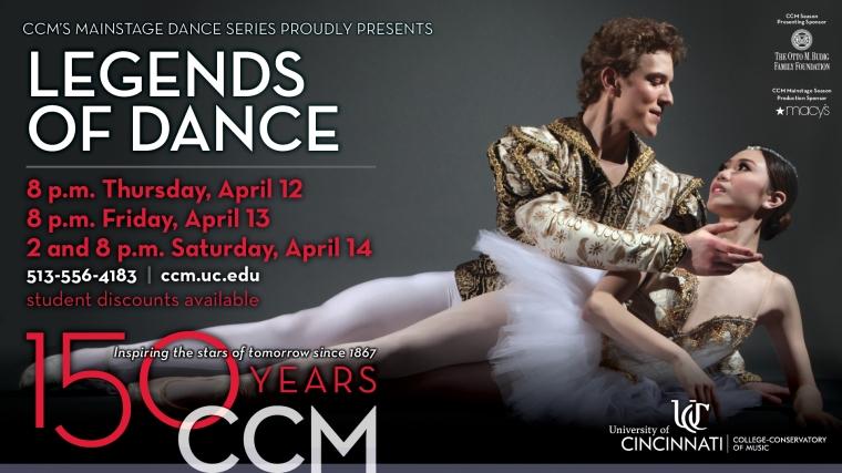 CCM Mainstage Dance presents Legends of Dance.