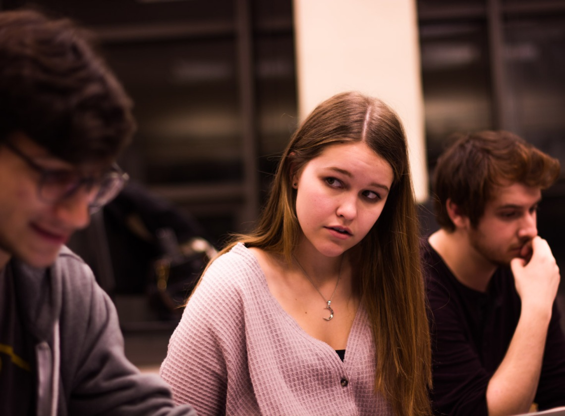 Students rehearse for CCM's TRANSMIGRATION Festival. Photos by CCM Acting student Jabari Carter.