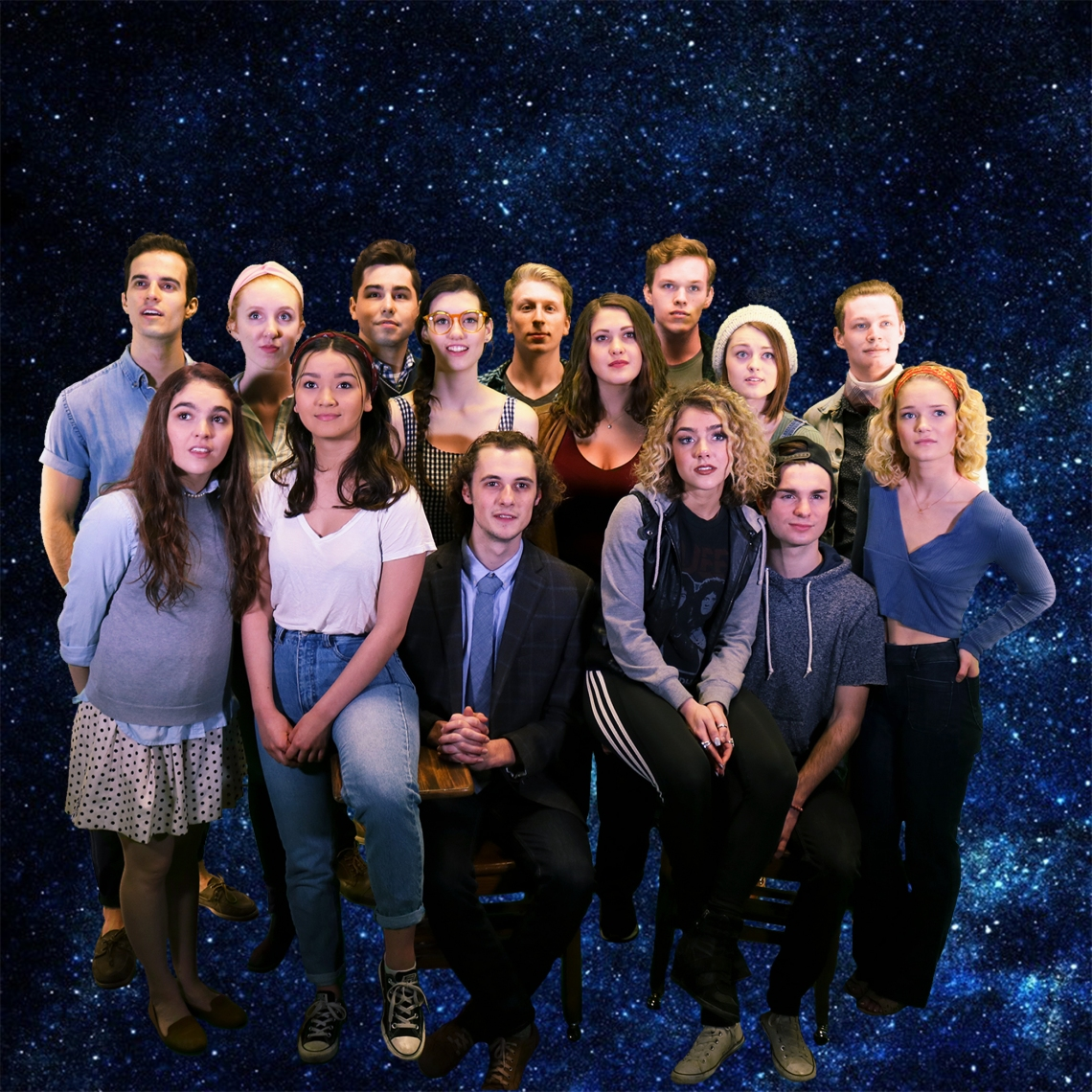 "The cast of ""The Theory of Relativity."" Photo by Kaelin Butts."