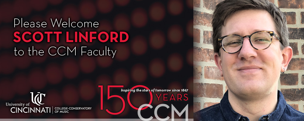 Scott Linford, incoming Assistant Professor of Ethnomusicology at CCM.