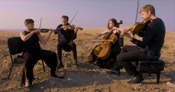 CCM String Quartet-in-residence, the Ariel Quartet.