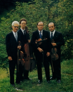 The LaSalle Quartet in the late 1970s: Peter Kamnitzer, Lee Fiser, Walter Levin and Henry Meyer.