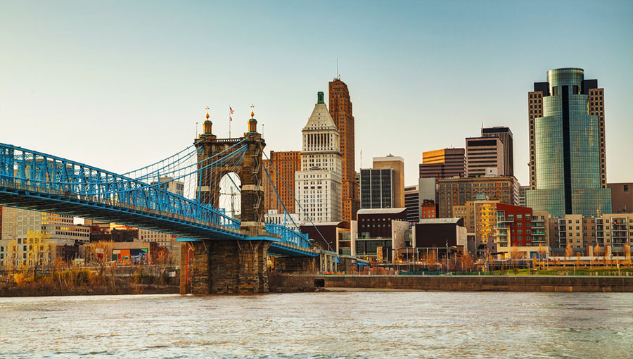 Photo of the Cincinnati skyline courtesy of www.cincinnati-oh.gov.