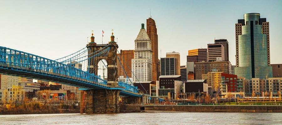 Photo of the Cincinnati skyline courtesy of www.cincinnati-oh.gov.
