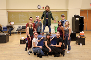 "Students in rehearsal for CCM's Studio Series production of ""Godspell."" Photo by Kaelin Butts."