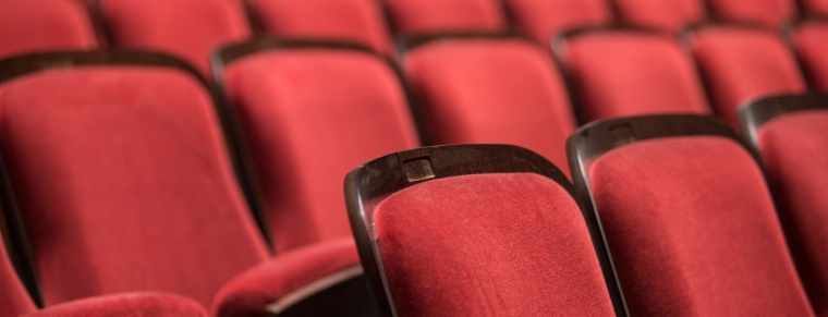 The seats of CCM's newly-renovated Corbett Auditorium. Photography by Andrew Higley/UC Creative Services.