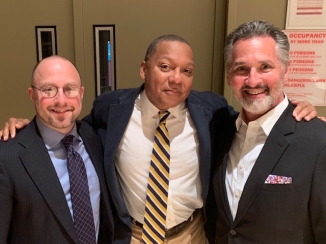 Left to right: Scott Belck, Wynton Marsalis and Stanley Romanstein.