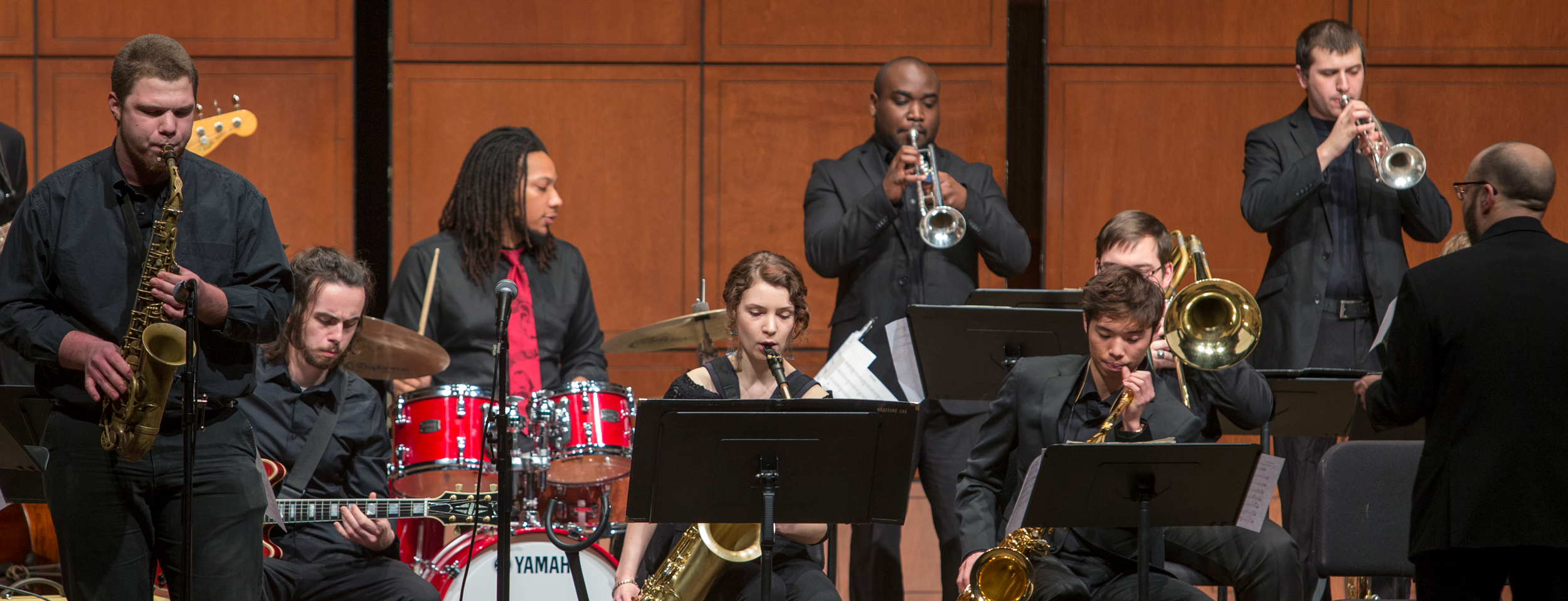 The CCM Jazz Orchestra performs under the direction of Professor Scott Belck at the 2016 Moveable Feast gala fundraiser. Photo/UC Creative Services.