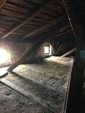 The attic where Menachem Limor hid until he was discovered by Nazis during WWII.