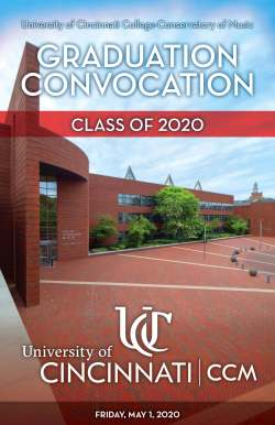 Photo of CCM Village as the cover for the Graduation Convocation program.