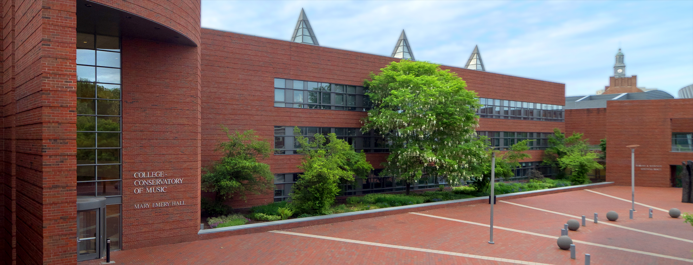 A photo of the entrance to the CCM Atrium on UC's campus. Photo/UC Creative + Brand.