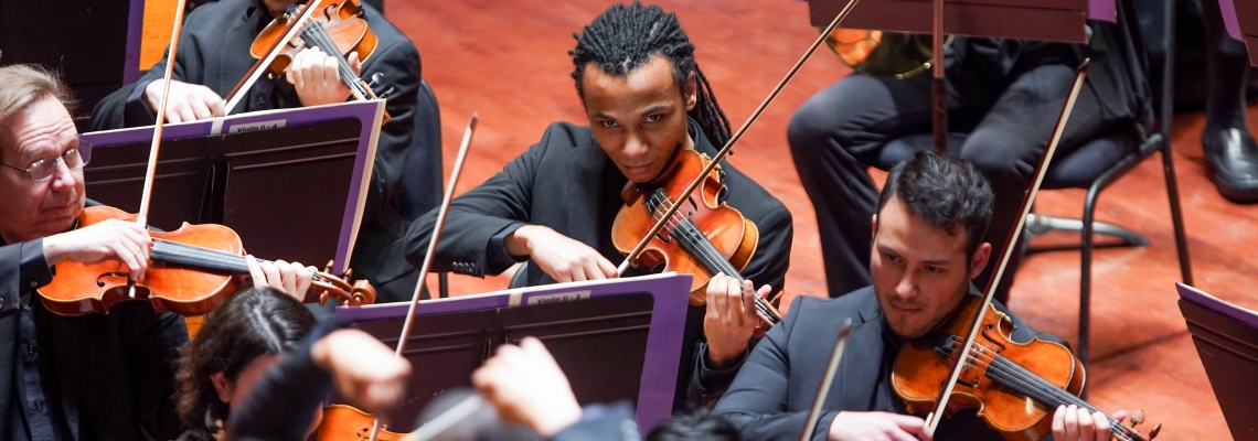 CSO Diversity fellows performing at Music Hall